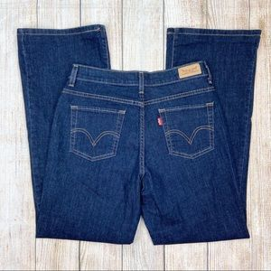 LEVI'S Blue Perfectly Slimming 512 Boot Cut Jeans